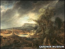 Govaert Flinck, Landscape with an Obelisk, 1638