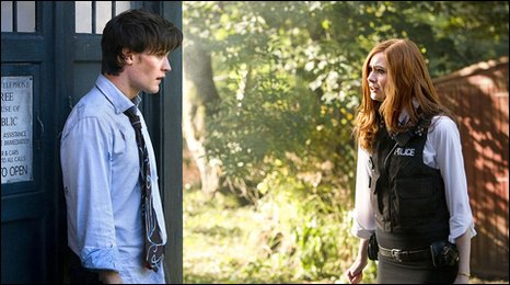 Matt Smith and Karen Gillan in a scene from Doctor Who