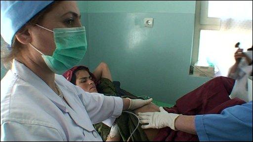 Maternity ward in Badakshan