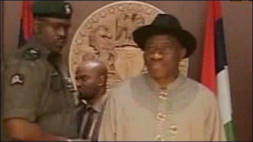 Nigeria's acting president, Goodluck Jonathan