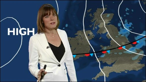 A BBC weather forecast