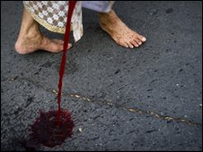 Thai blood protest