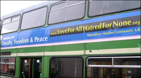 'Love for all' slogan on bus