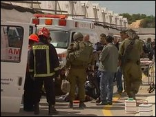 Israeli emergency services at scene of attack