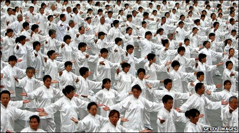 Tai Chi class in Beijing