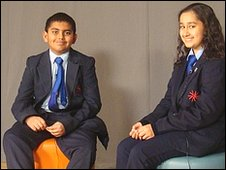 Nitesh on the left, Villiers School