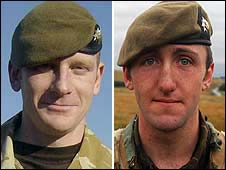 L/Cpl Scott Hardy and Pte James Grigg