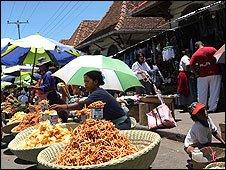 Madagascan market stall