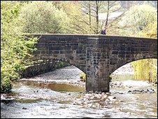The bridge in Hebden Bridge
