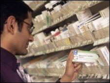 Hospital pharmacy. Pic:John Cole, SPL