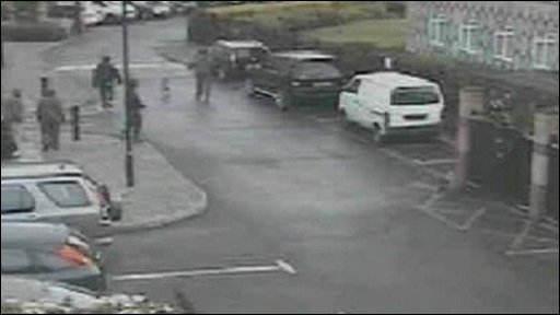 CCTV pictures from after the dog attck