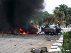 Site of bombing in Warri, 15/03