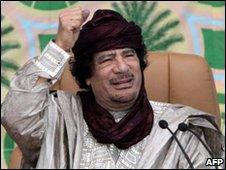 Muammur Gaddafi, file image