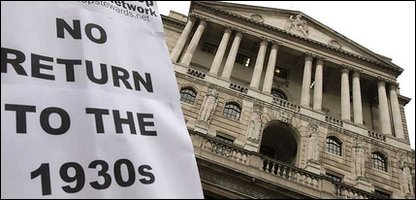 National Shop Stewards Network demonstrate outside the Bank of England in London