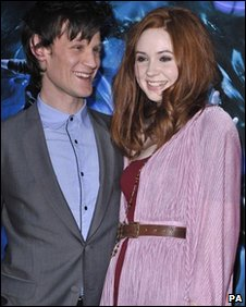 Doctor Who actor Matt Smith and his companion Amy Pond, actress Karen Gillian