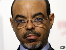 Ethiopian PM Meles Zenawi. File photo