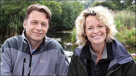Chris Packham and Kate Humble at Pensthorpe Nature Reserve, Norfolk (Photo: Martin Barber)