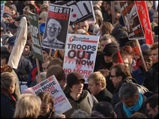 Anti-war protest in London 2006