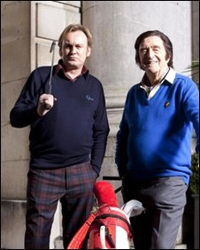 Philip Glenister and Michael Parkinson