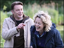 Chris Packham and Kate Humble at Pensthorpe Nature Reserve