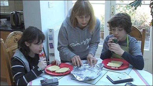 Elayne Kirschel with her twins Giverny and Aaron