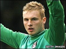 Fulham goalkeeper David Stockdale
