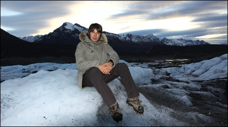 Professor Brian Cox in the Matanuska glacier region of Alaska