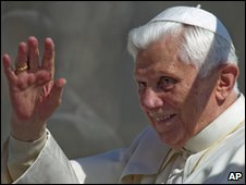 Pope Benedict XVI at the Vatican, 17 March 2010
