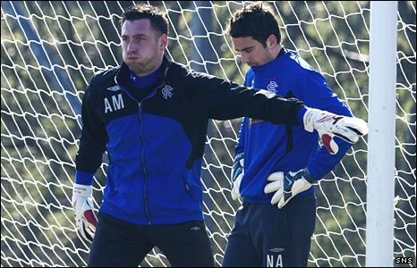 Rangers goalkeepers Allan McGregor and Neil Alexander