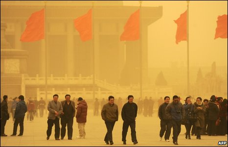 God Attacks China With +5 Orange Sandstorm