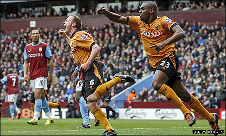 Jody Craddock celebrates for Wolves