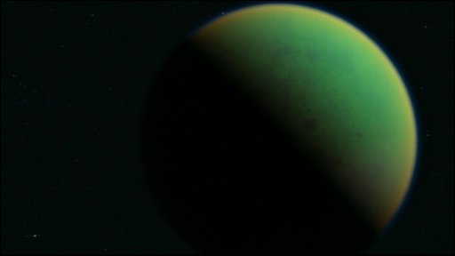 An image of  Saturn's moon Titan