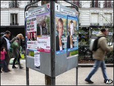 Elections posters in Paris