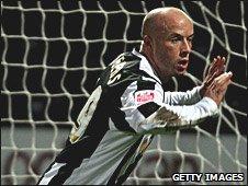 Notts County striker Luke Rodgers