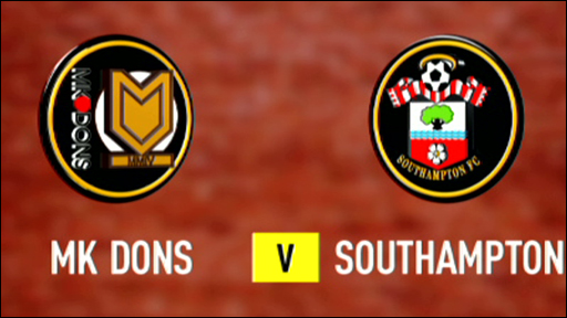 MK Dons 0-3 Southampton