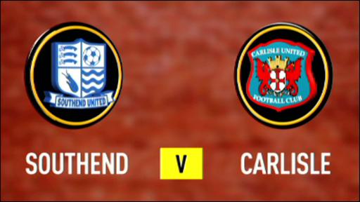 Southend 2-2 Carlisle