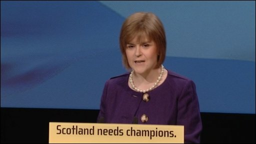 Nicola Sturgeon, speaking at the SNP conference