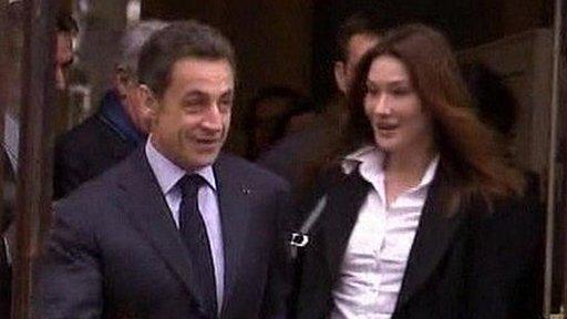 President Sarkozy and Carla Bruni vote