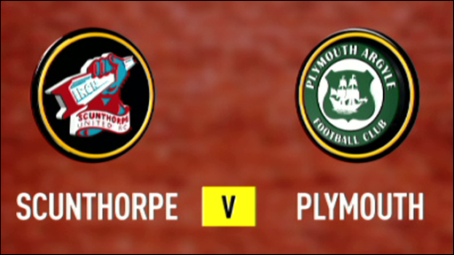 Scunthorpe United v Plymouth Argyle