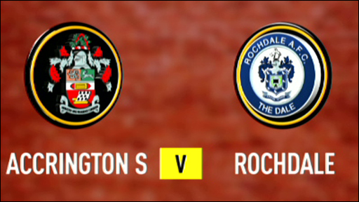 Accrington Stanley and Rochdale club badges