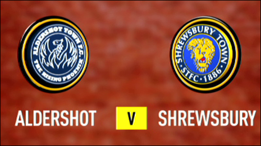 Aldershot and Shrewsbury club badges