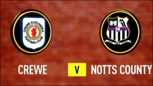 Crewe and Notts County club badges