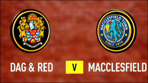 Dagenham & Redridge and Macclesfield club badges
