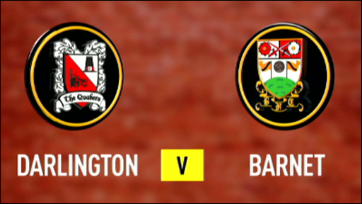 Darlington and Barnet club badges