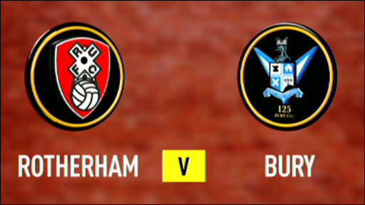 Rotherham and Bury club badges