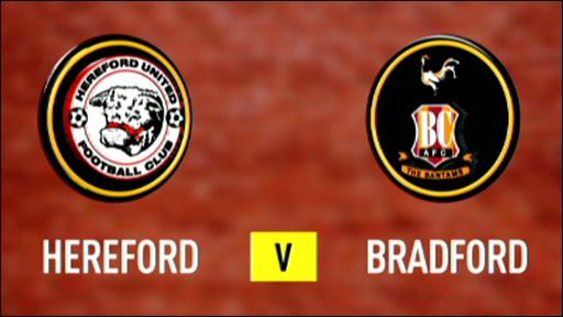Hereford and Bradford club badges