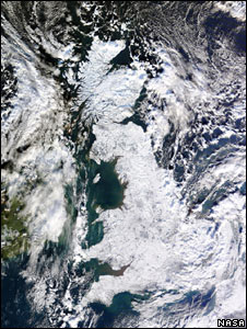UK under snow (Nasa)