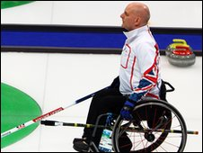 GB wheelchair curling skip Michael McCreadie
