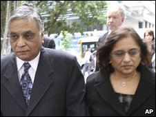Jayant Patel arrives at court with his wife Kishoree