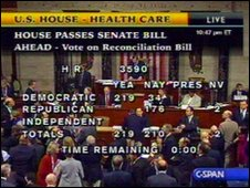 The vote tally for House Resolution 3590, 21 March 2010